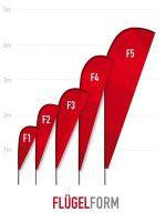 Beachflag Flügelform