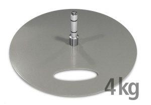 Bodenplatte für Beachflags, 4 kg