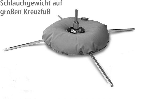 10 Liter Schlauchgewicht auf Beachflag-Kreuzfuß
