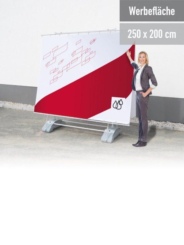 Doppelseitige Ausführung. 2,5 x 2 m