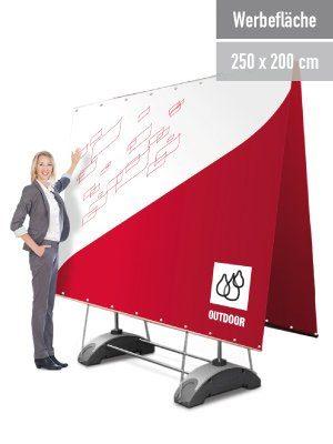 Mobile Werbewand 3 x 2 m, zweiseitig