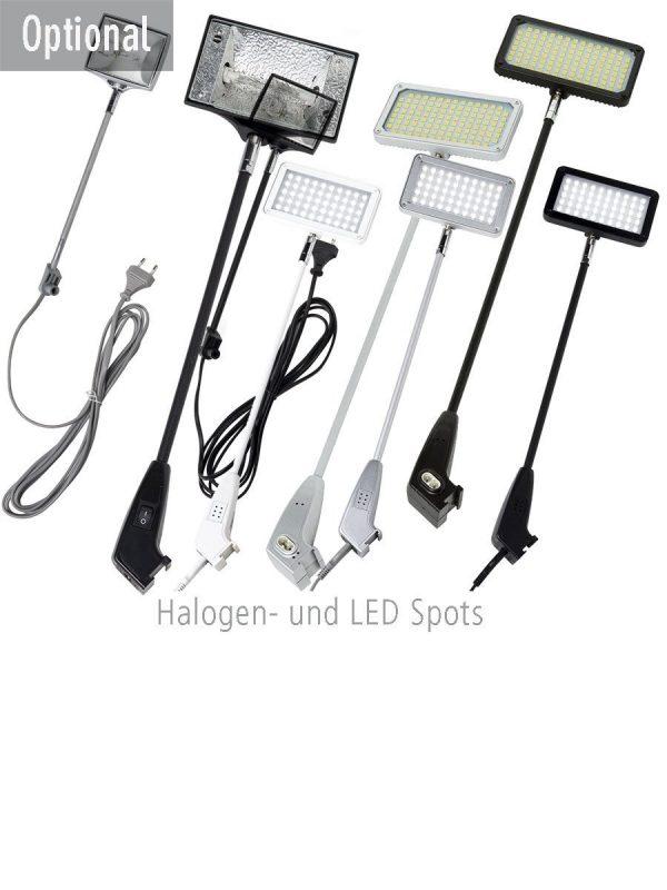 LED Spots und Halogenscheinwerfer