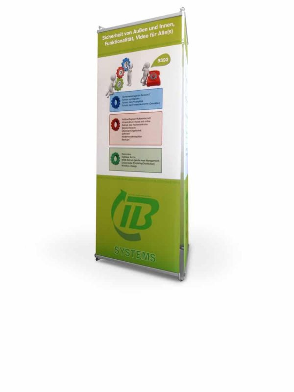 Triside Banner Display inkl. Digitaldruck