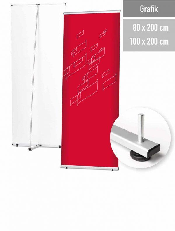 Ein L-Banner in 2 Größen lieferbar.