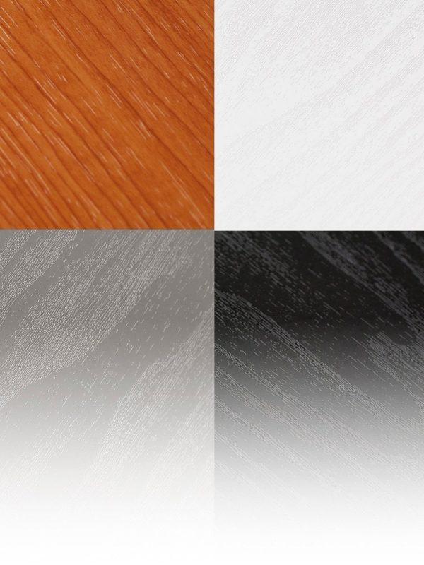 Thekenplattten in weiß, silber, holzoptik, schwarz.