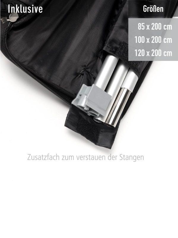 RollUp Double mit praktischer Tasche