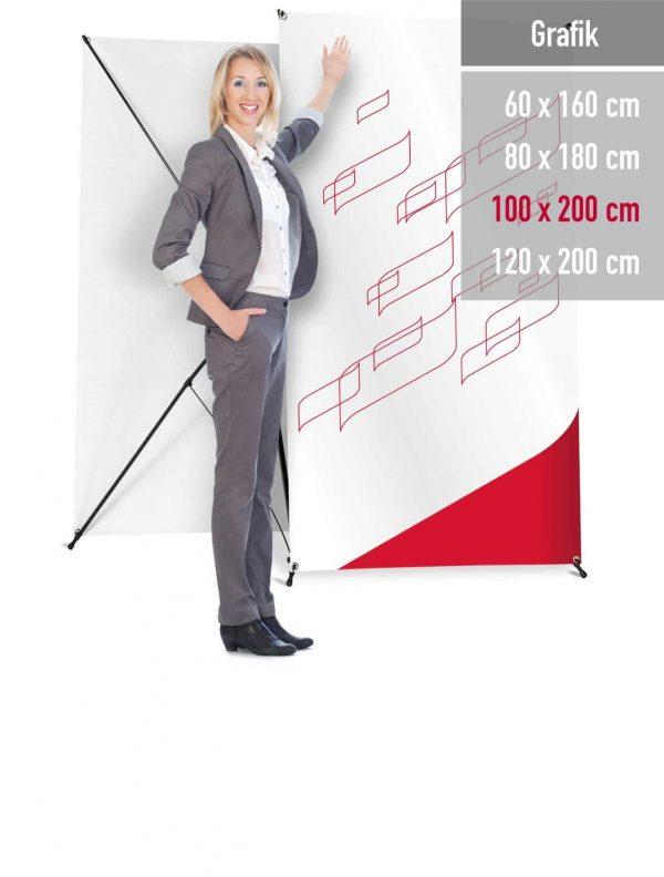 X-Banner Professional in 4 Größen erhältlich.