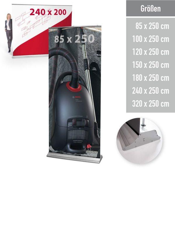 RollUp Maxi 250 - in 7 Größen verfügbar