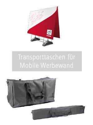 Tasche A und B für mobile Werbewand.