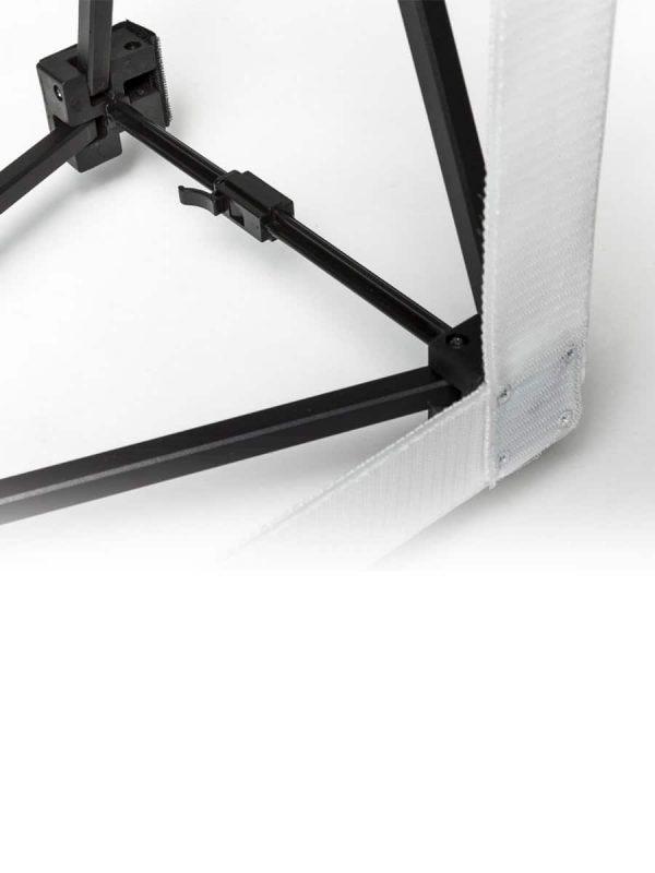 Scheerengittergestell mit Klettband
