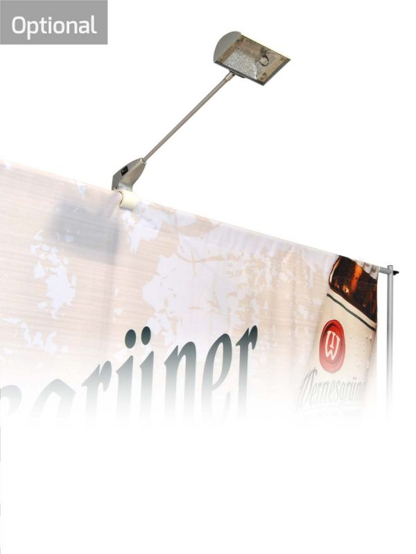 Strahler und LEDs optional für Bannerwand Vario