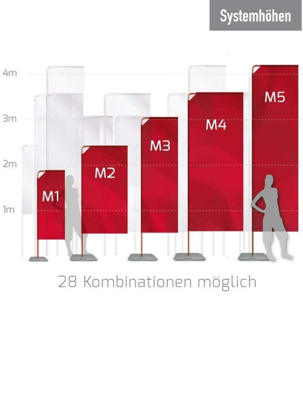 Mobile Fahnen/ Eventfahnen - in 5 verschiedenen Größen