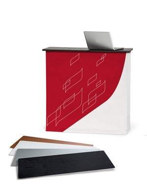 Textiltheke mit 4 verschiedenen Dekors