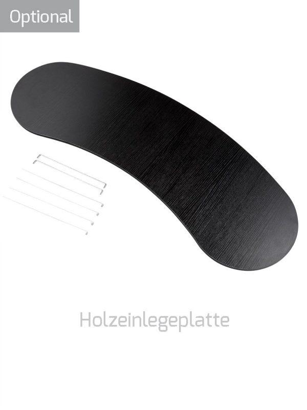 Messetheke L Holzeinlegeplatte