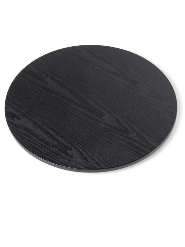 Tischplatte in schwarzer Holzoptik