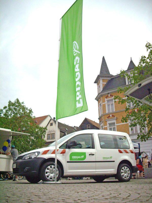 Event Car 550 mit Fahnenmast und Fahne