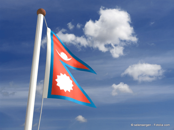 Flagge von Nepal: kein Rechteck