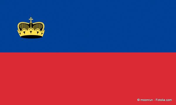 Flagge von Lichtenstein: blau, rot