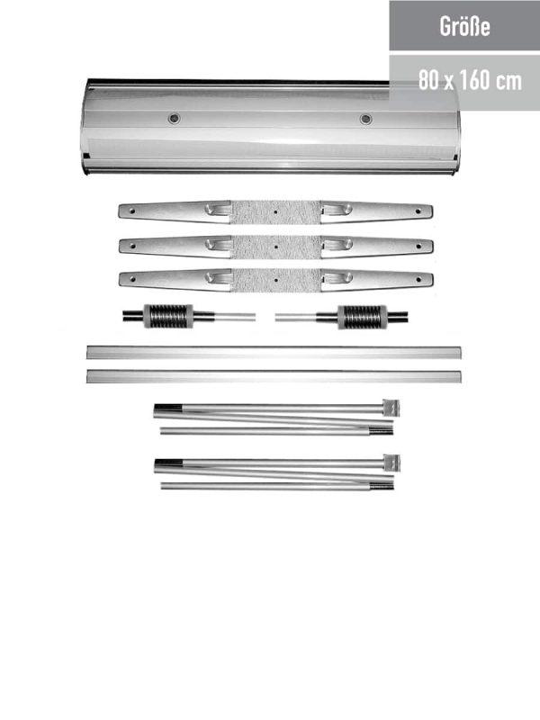 Systembestandteile des Outdoor RollUp Flex