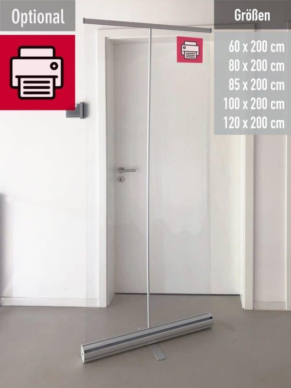 RollUp mit klarem PVC bespannt