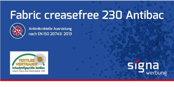 Fabric creasefree 230 Antibac