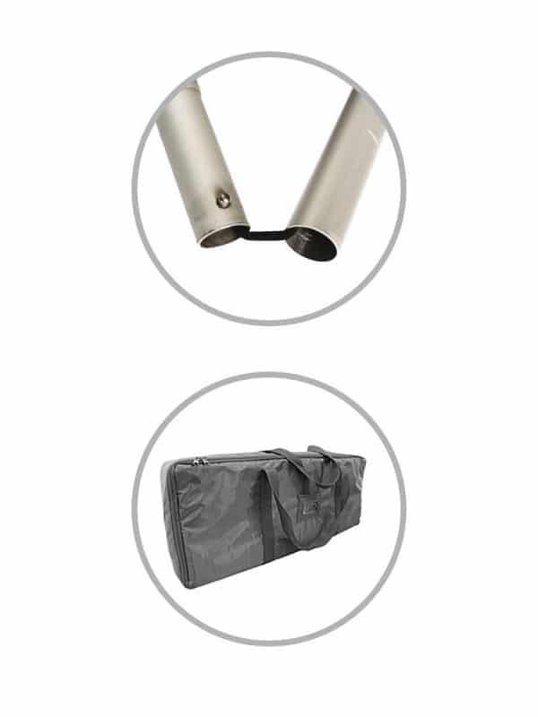 Systemteile vom Hygieneschutz Tube Frame