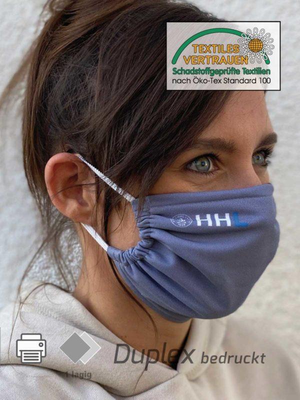 Bedruckte Nasen- und Mundschutzmasken