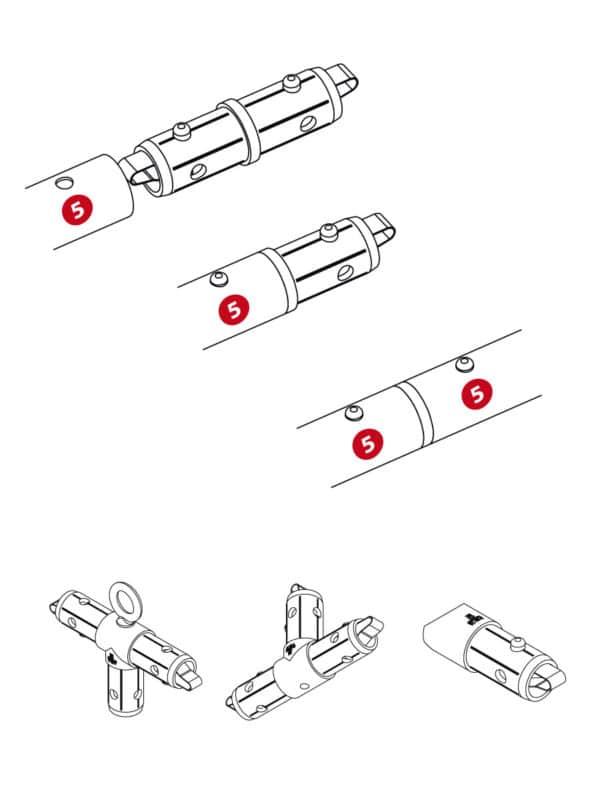 Deckenhänger Eckverbinder