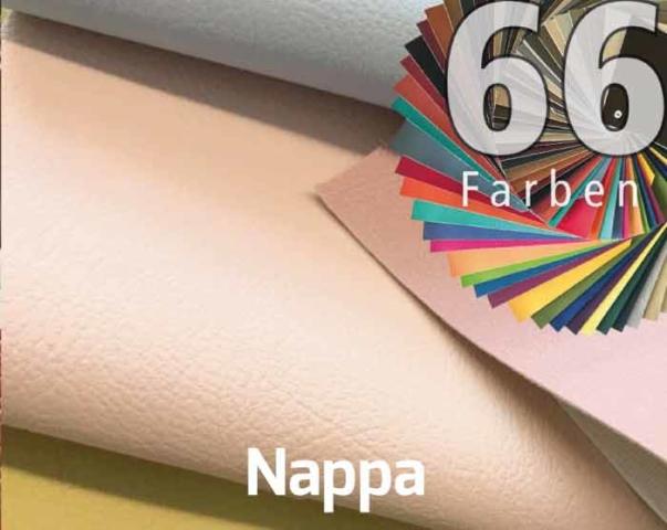 Kunstleder Nappa in 66 Farben