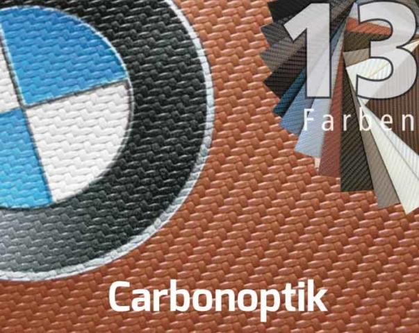 Carbonoptik in 13 Grundfarben.