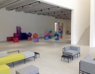 Sitzwuerfel B-Cube im Buhaus Weimar